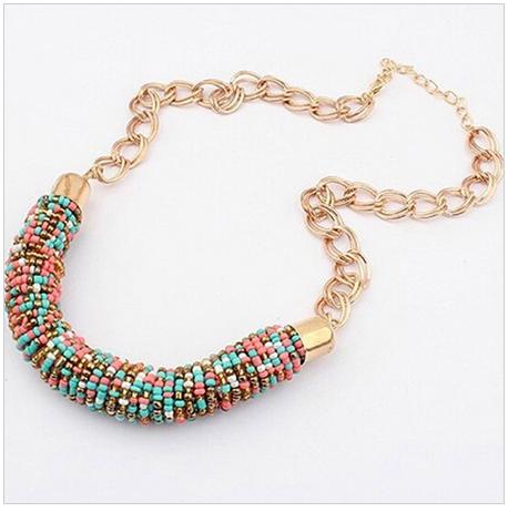 Korálkový náhrdelník, perličky, korálky, barevný